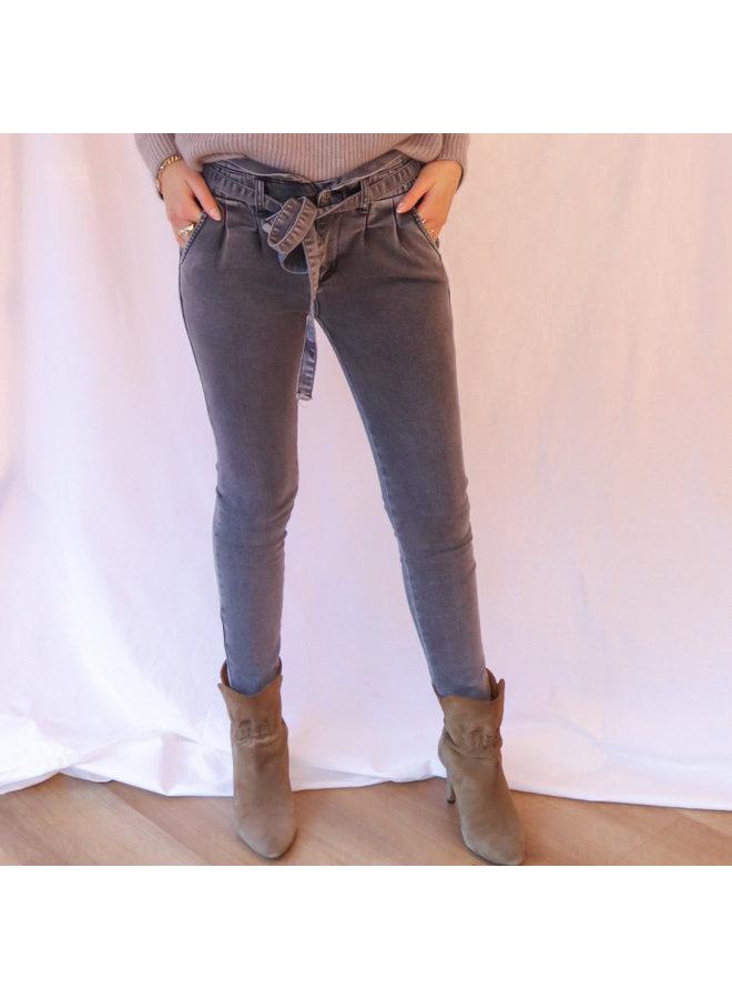 Jeans paperbag light grey
