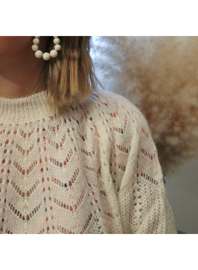 Cécile white oorbellen