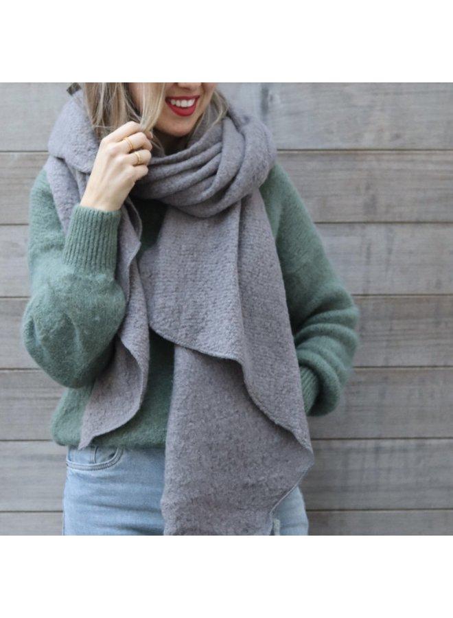 Scarf Camille medium grey