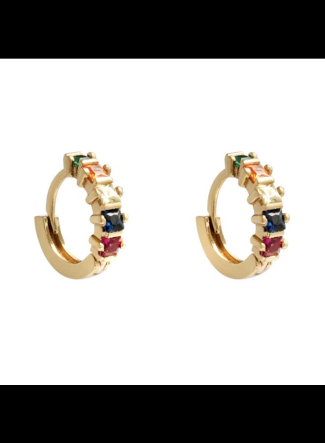 Earring hoops multicolor