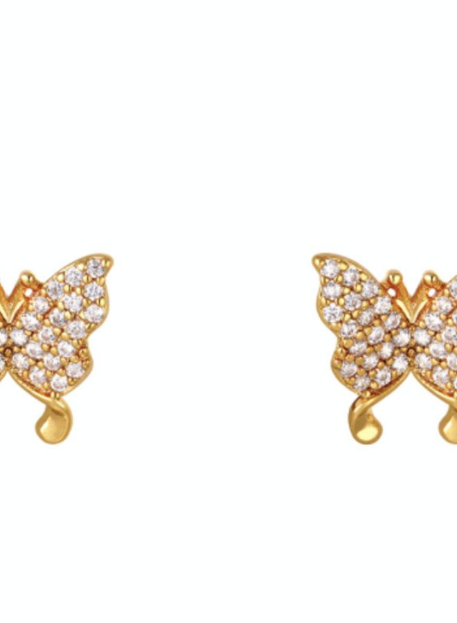 Earrings butterfly stud
