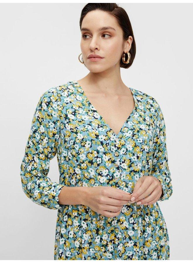 Yastasia midi dress blue/yellow