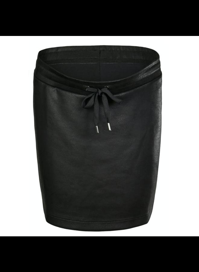 skirt otb pu black