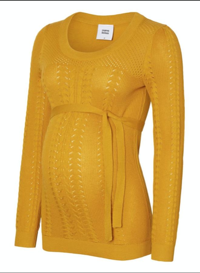 Mlova ls knit top nugget gold