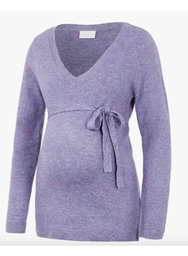 Mlkinsley v-neck knit top orchid bouquet