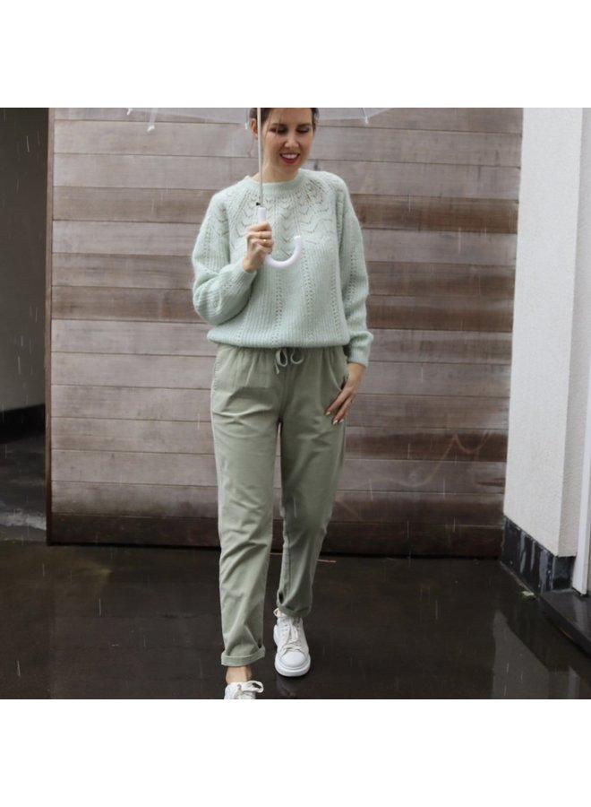 Knit Marlow closed  pastel mint