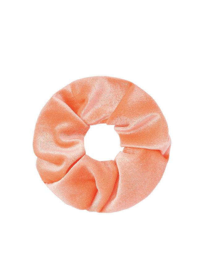 Scrunchie peach velvet