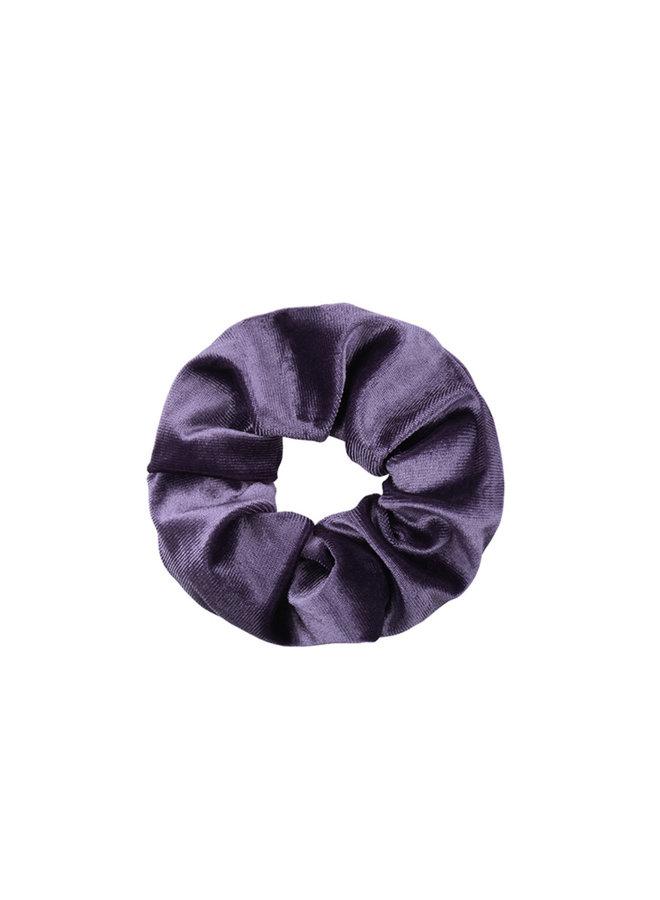 Scrunchie purple velvet