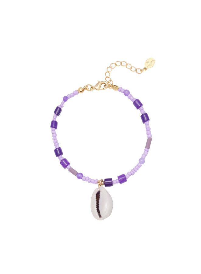 Bracelet beach purple