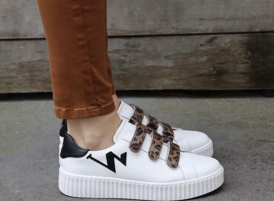 Sneakers leopard black