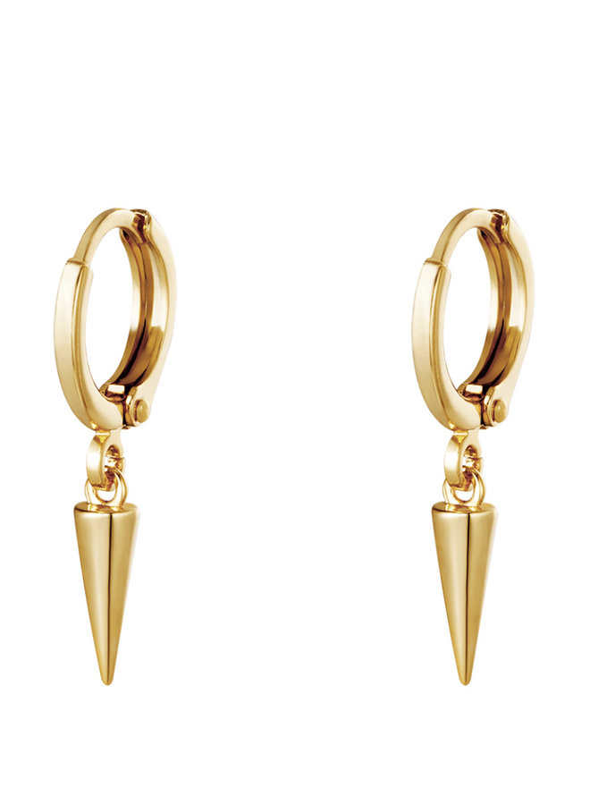 Earrings golden drops