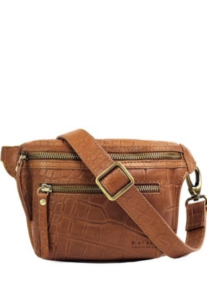 Beck's bumbag wild oak croco leather