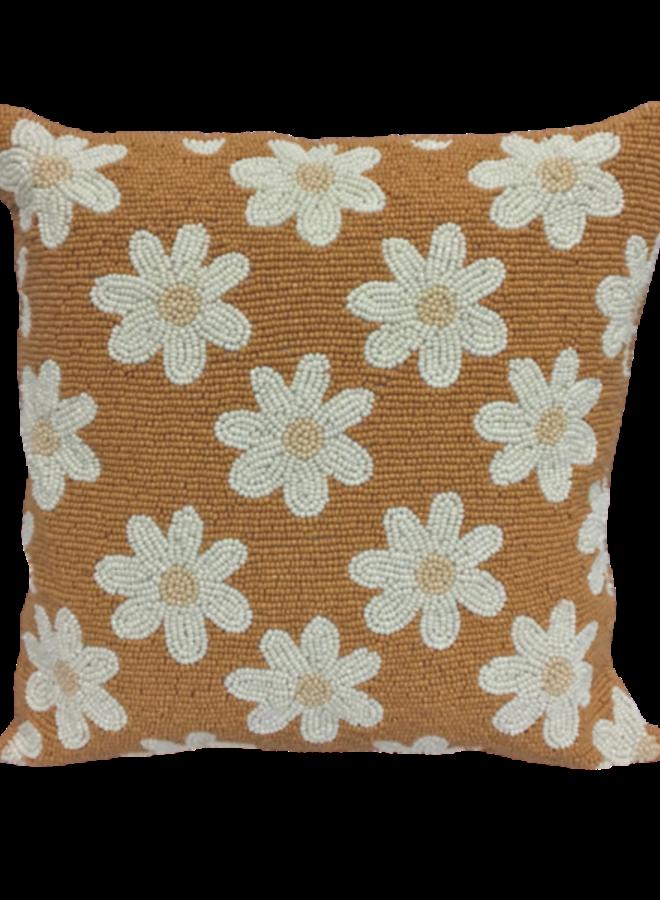 Beads cushion daisies terra