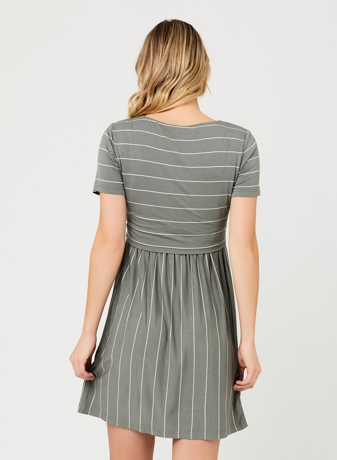 Crop top dress olive