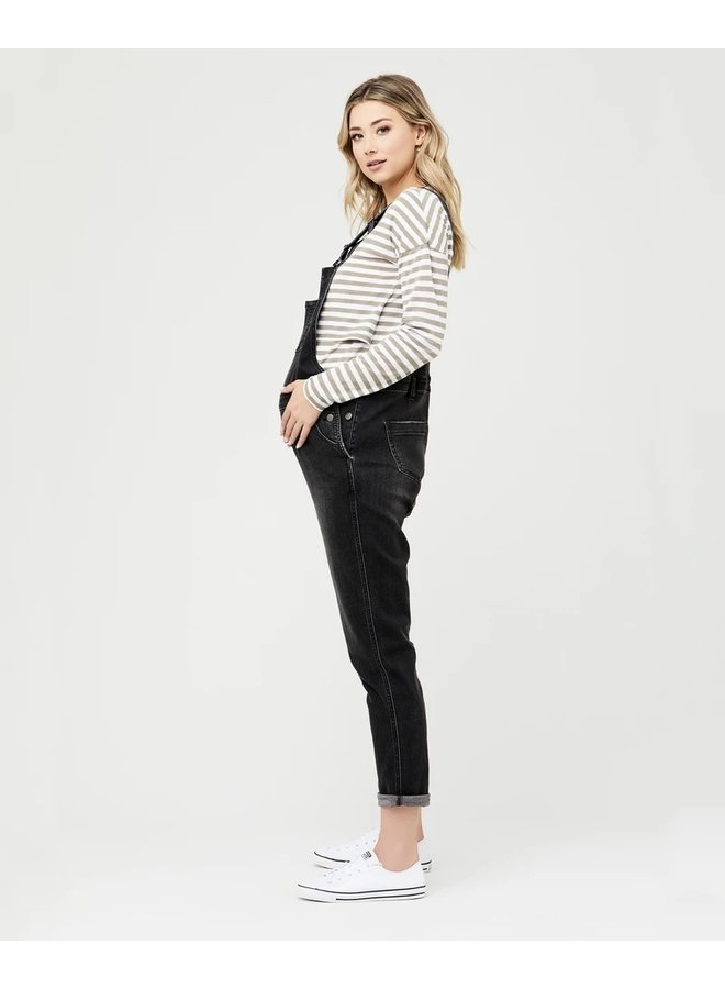 Denim overalls black