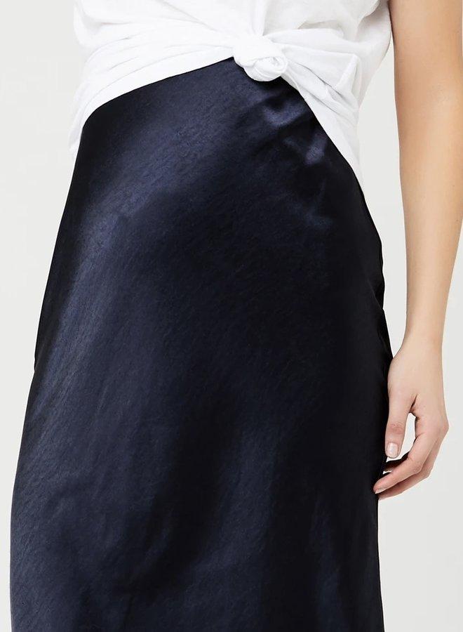 Lexie satin skirt navy