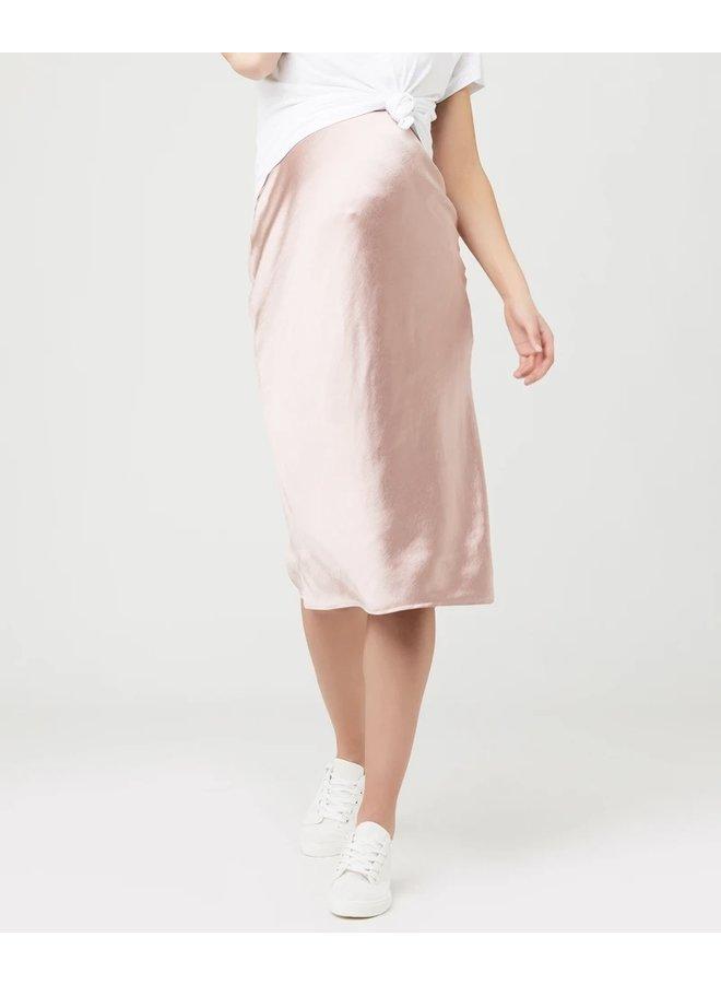 Lexie satin skirt dusty pink