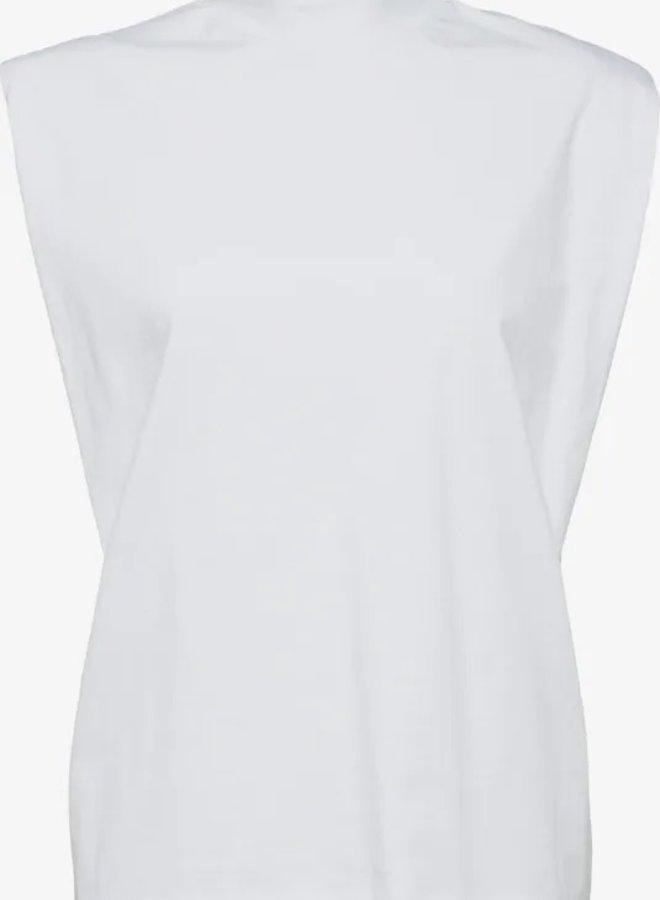 Leanne padded shirt white