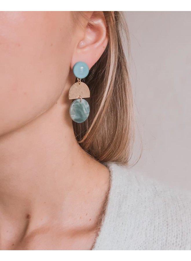 Oorbellen Tiffany blue