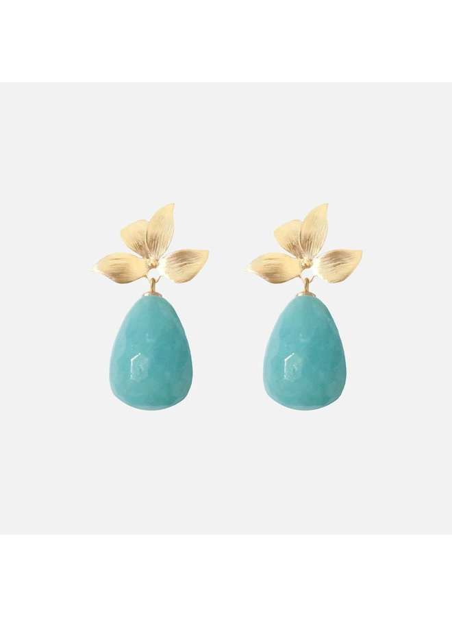 Oorbellen Turquoise blossom