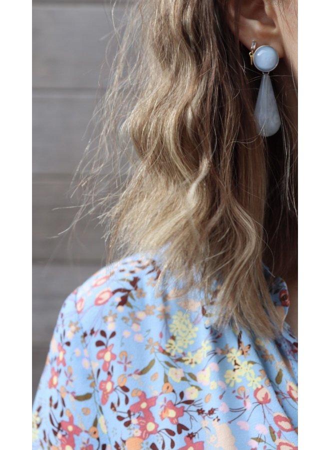 Santos maxi shirtdress blue