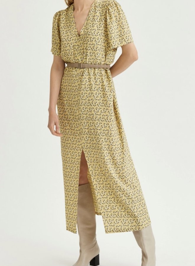 Slfeve ankle dress yellow
