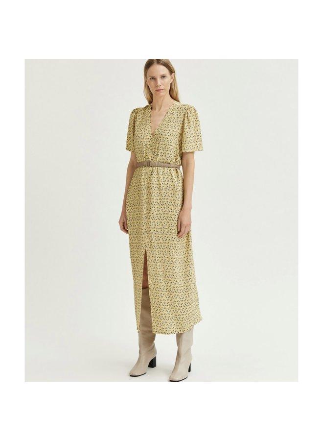 Sleeve dress yellow
