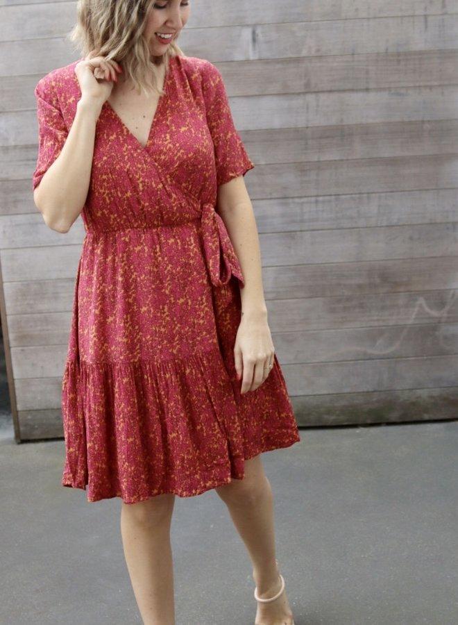 Yasrislo wrap dress fandango pink