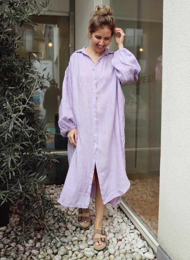 Linen dress lila