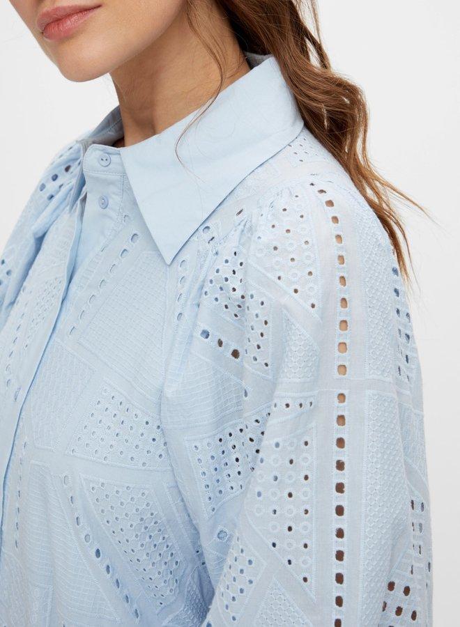 Yassado 3/4 shirt dress cashmere blue