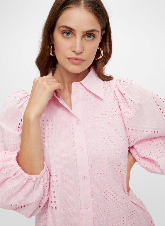 Yassado 3/4 shirt dress roseate spoonbill