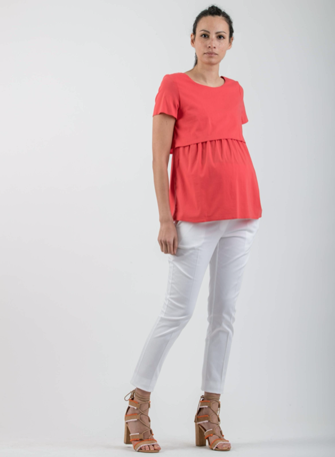 Camicia blouse coral