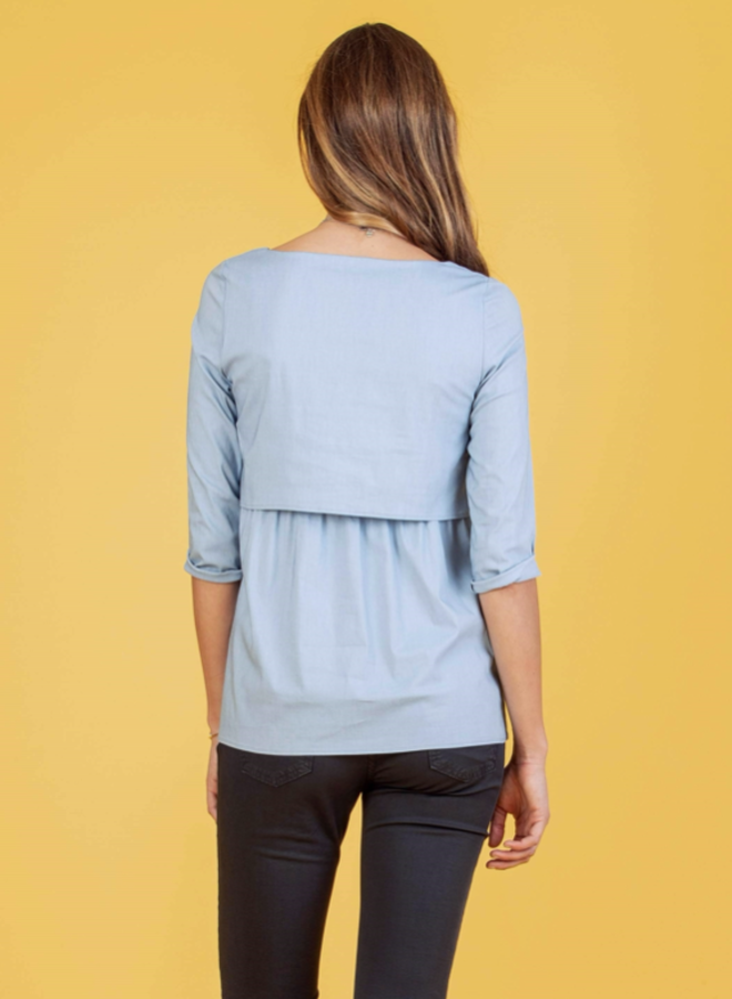 Camicia blouse  light blue