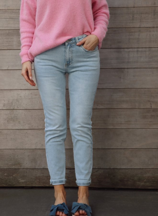 Mom jeans light blue fitted