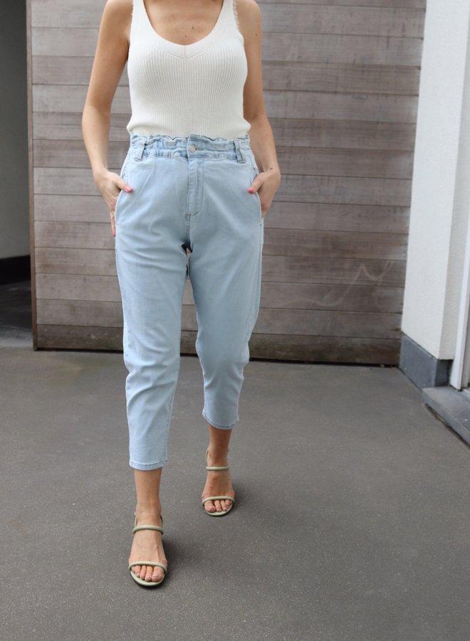 Slouchy pants light blue
