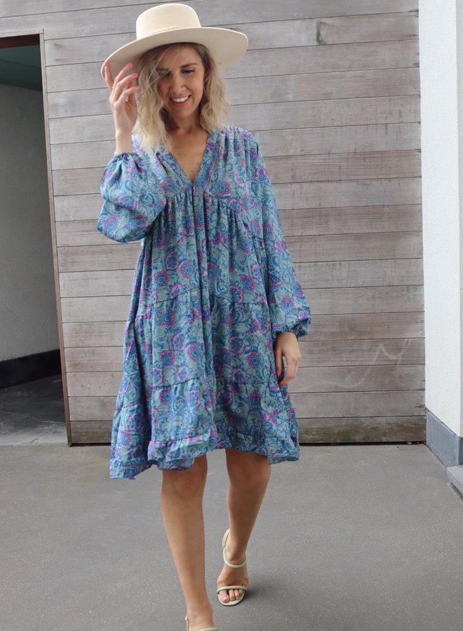 Short dress Serene blue