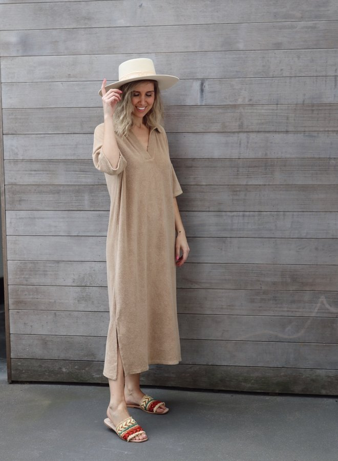 Terry dress Lily camel