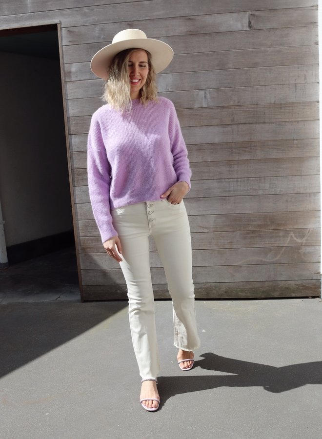 Bootcut pants beige