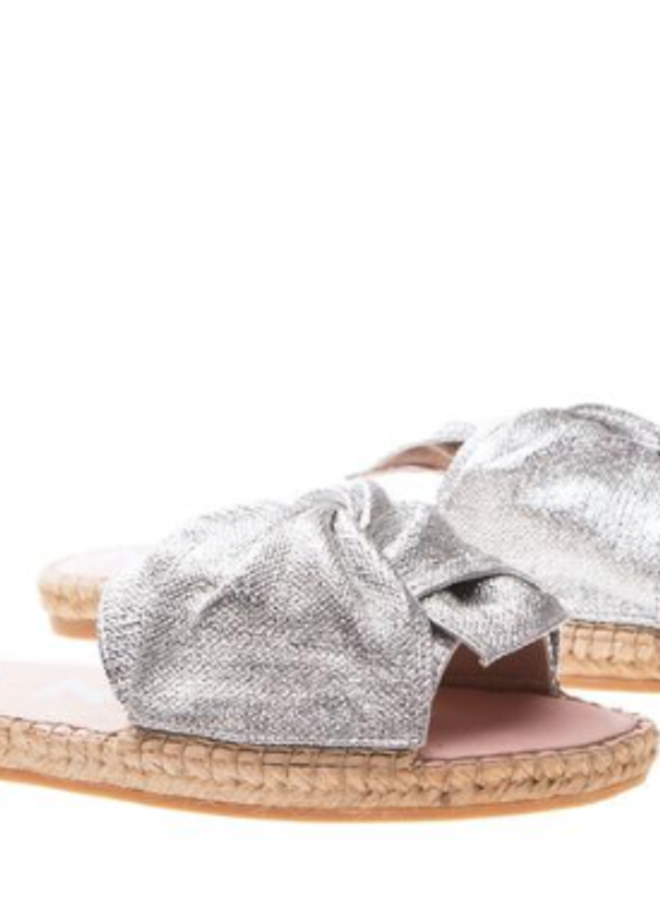 Sandals with knot silver
