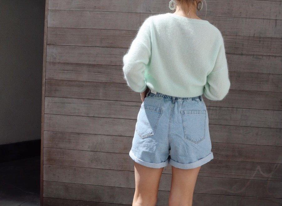 Jeans short high waist