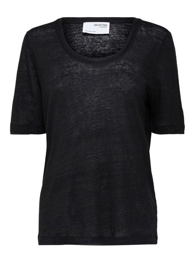 T-shirt Slflinen black