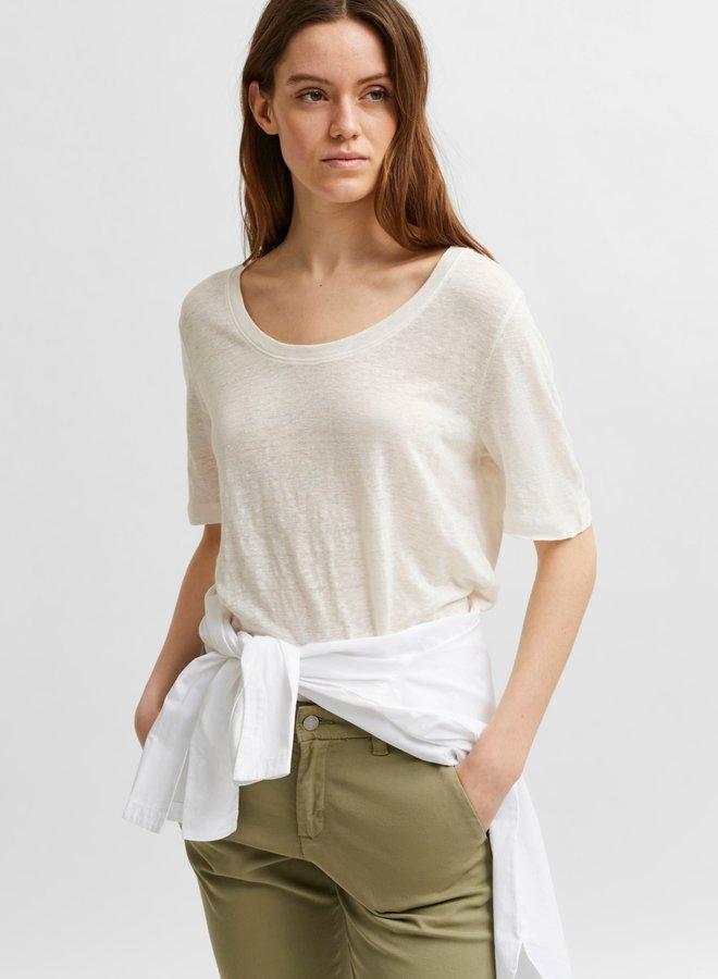 T-shirt Slflinen white