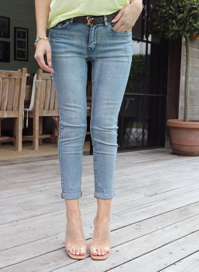 Fitted jeans light blue