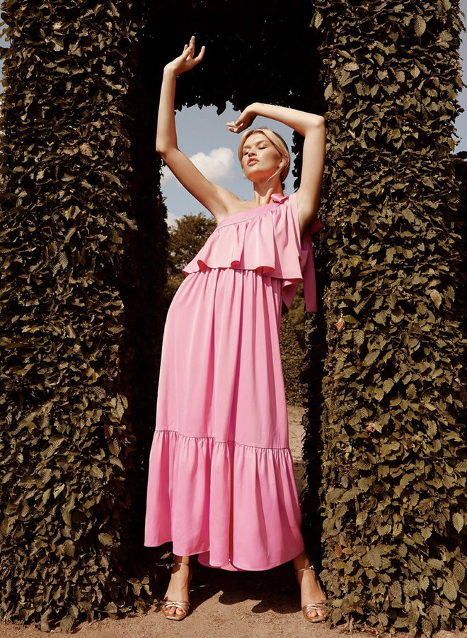 Yasvictoria ankle dress azalea pink