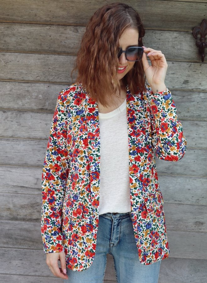 Blazer Laurence flowers red
