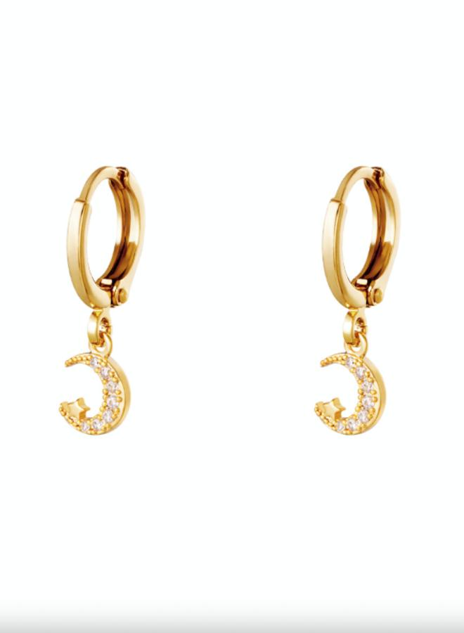Earrings moon/star