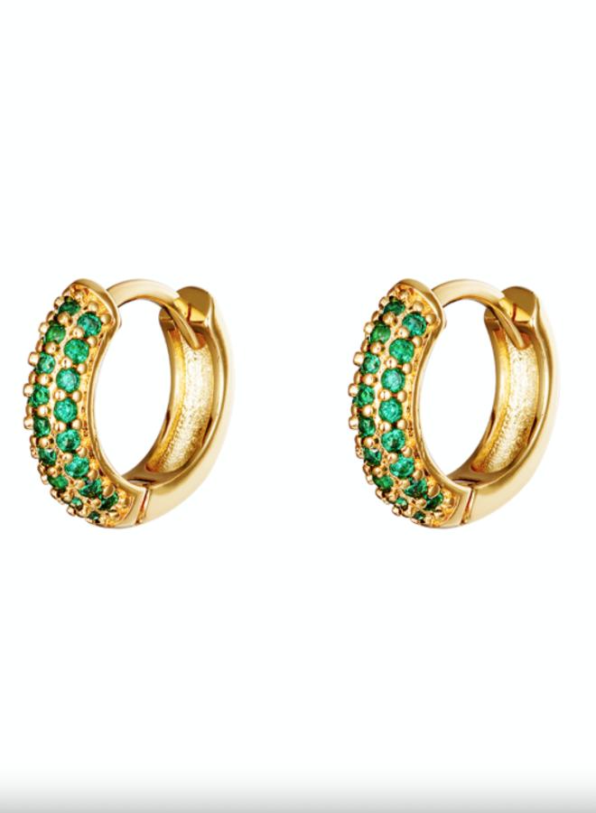 Earrings desire green