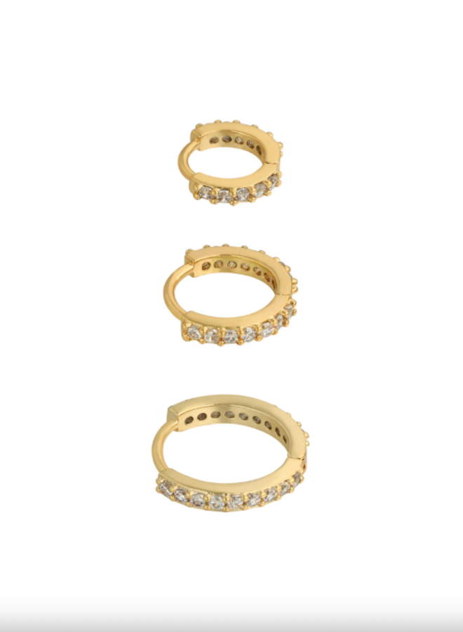 Earrings set of circles