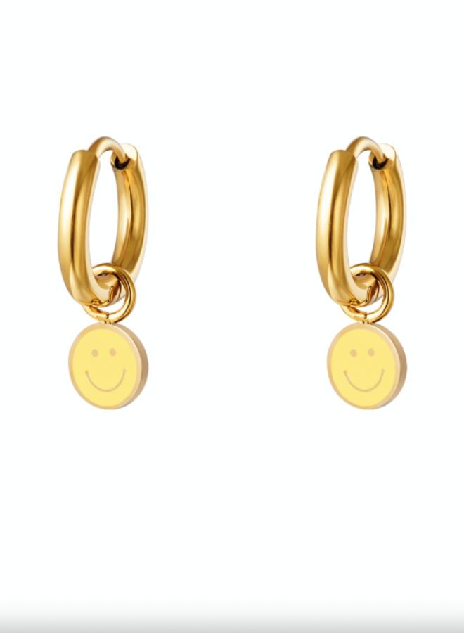 Earrings smileys yellow