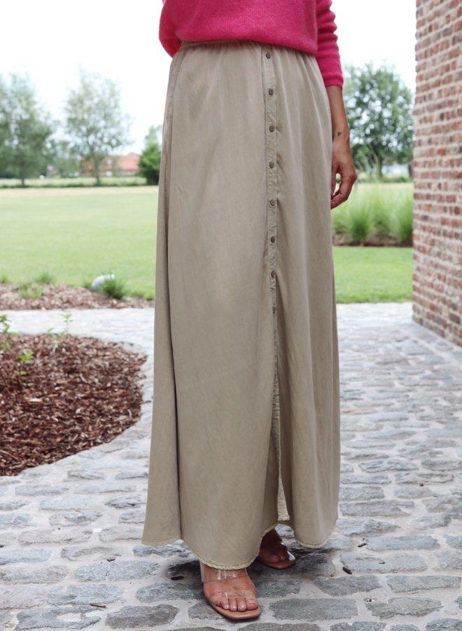 Yastenni maxi skirt khaki